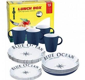 blue ocean dinner set
